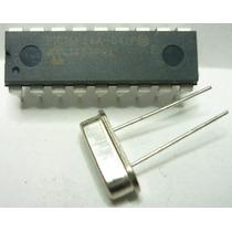 Kit Microcontolador Pic16f84a + Cristal 4mhz Robot