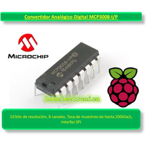 Convertidor Analógico 10 Bits 8 Canales Mcp3008 Raspberry Pi