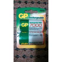 Baterías Recargables Gp Tipo D 7000 Mah Paquete De 2