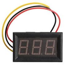 Mini Voltmetro Digital De 0v A 99.9 V Rojo