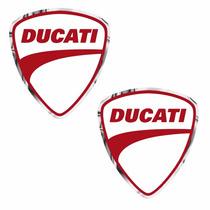 Sticker - Calcomania - Vinil - Ducati Cromo