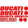 Jgo De 13 Calcomanias Para Motocicleta Ducati