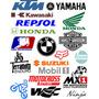 Super Lote + 20 Calcas Motos Logos Marcas