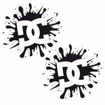 Sticker Motos - Calcomania - Vinil - Logo Dc Splatter Mancha