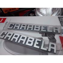 Emblemas Moto Carabela Antigua Cromados Con Adhesivo