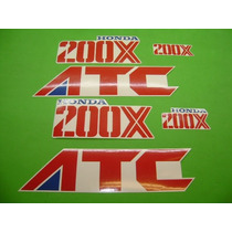 Kit De Stickers Calcomanias Para Moto Honda Atc 200x