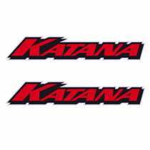 Sticker - Calcomania - Vinil - Logo Katana Cromo