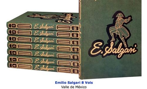Emilio Salgari 8 Vols Editorial Valle De Mexico