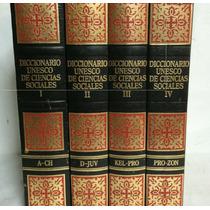 Diccionario Unesco De Ciencias Sociales 4 Vols Planeta