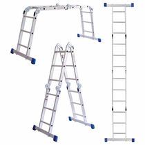 Escalera De Aluminio Articulada Plegable Multiladder 3,70mts