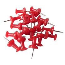 Pin Rojo Tipo Tachuela Con 50 Piezas