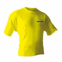 Playeras Cuello Redondo Amarillas Hombre Surtek Pla101m Hm4