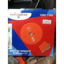 Disco De Diamante 14¨ 1514 Austrodiam Naranja Envio Gratis
