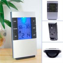 Higrometro Digital Termometro Medidor De Humedad Con Reloj