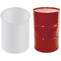 Caja 20 Fundas Solidas De Acordeon Para Tambos De 208 Litros