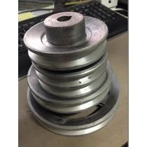Polea De Aluminio Semi Industrial Para Motor O Eje 6 Pulgada