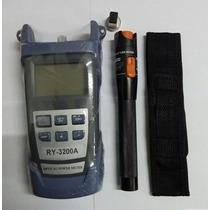 Medidor Potencia Fibra Optica Lampara Fallas 30km Limpiador
