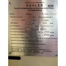 Generador De Energia 25 Kw Marca Kohler