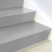 Contrapaso De Caucho Gris Para Escalera De 182cmx17cm