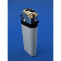 Encendedor Tokai Mini M12 Blanco Cubierta Flama Plata