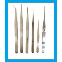 Kit De 6 Pinzas De Acero Antimagneticas Excelente Calidad