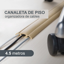 Canaleta Flexible Para Piso Oculto Organizador De Cables