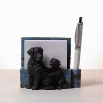 Portanotas Imantado De Ceramica Labrador Negro - Hermoso!