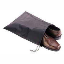Nylon Viajes Zapato Bolsas (negro) Large Portable (3)