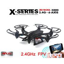 Drone Mjx Rc X800 Con Camara En Vivo Fpv Hexacopte 6 Helices