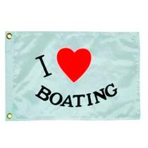 Bandera Para Yate O Lancha. I Love Boating 12x18 Pulgadas