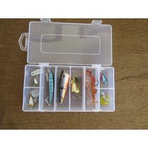 Kit De Pesca 8 Piezas Con Caja Incluida Ideal Para Lobina!!!