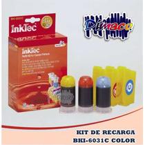 Kit De Recarga Bki-6031c Color Para Canon Bc-03 C/ M/ Y