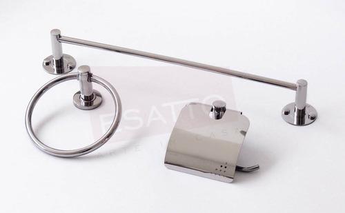 Esatto kit basik 1 accesorios ba o toalleros for Accesorios bano portarrollos