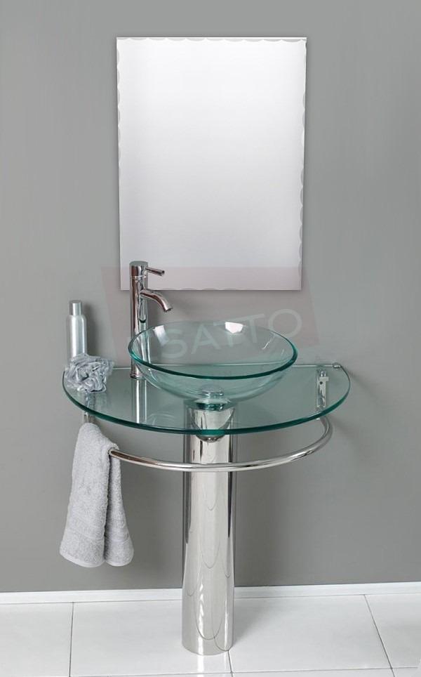 Lavabos de vidrio para ba o - Muebles para lavabo con pedestal ...