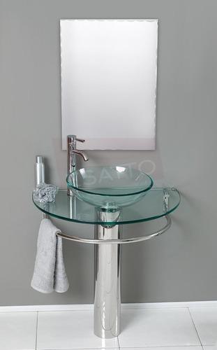 Lavabos Para Baños Cristal:Esatto – Mueble De Baño Lavabo Cristal Cromo Espejo Gy-521 – $ 2,850