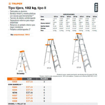 Escalera De Tijera Tipo 2 5 Escalones