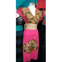 Bata/bluson/vestidos En Manta Bordados A Mano En Chiapas