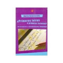 Libro Primeras Letras O Primeras Lecturas