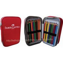 Faber Castell Estuche 24 Colores 33 Pz Accs Dibujo Escuela