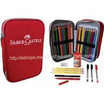 Faber Castell Estuche 24 Colores 35 Pz Accs Dibujo Escuela