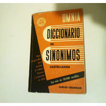 Diccionario De Sinonimos Castellanos Con Mas 15000 Vocablos