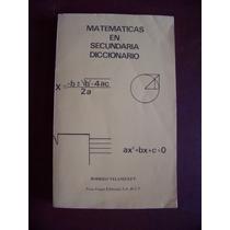 Matemáticas En Secundaria-dicc-ilust-rodrigo Velázquez-pm0
