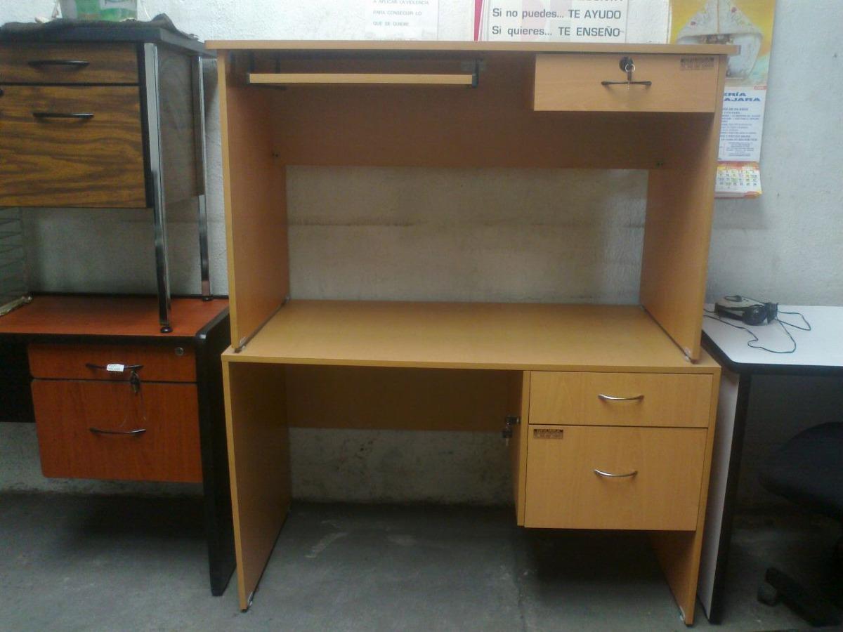 Escritorio economico con 2 cajones mesa para oficina 1 en mercadolibre - Mesa escritorio con cajones ...