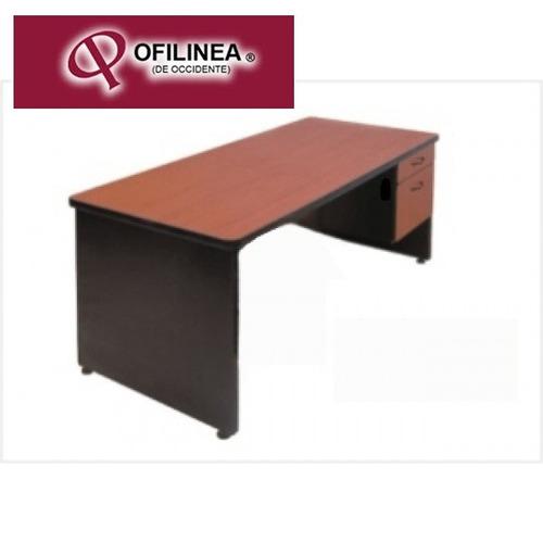 Escritorio economico con 2 cajones mesa para oficina for Escritorios para oficina economicos