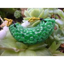Dije Jade Verde Esmeralda 7 Flores