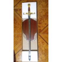Espada Masonica Ceremonial 94 Cm Con Base De Madera 2colores