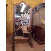 Espejo De Madera De Mezquite Y Hierro Forjado Estilo Antiguo