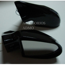 Espejos Lateral Chevy C2 C1 Tsuru Cromado Negro Nuevo Modelo
