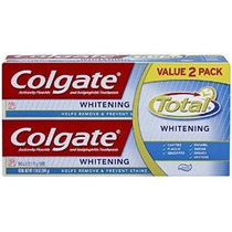 Colgate Total Whitening Toothpaste Twin Pack (dos Tubos De 6