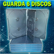 10 Pack Estuche Para 6 Discos Cd/dvd/bd Color Negro 14mm